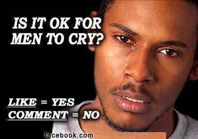 Is it ok for men to cry