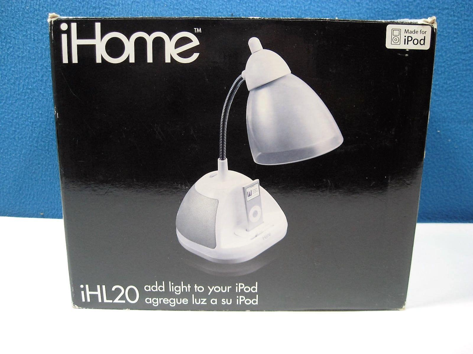 IHome Speaker Lamp Docking Station Ihl20 WhiteSilver