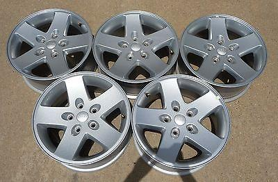 "JEEP WRANGLER JK RUBICON SAHARA UNLIMITED 17"" FACTORY ALLOY WHEELS 9074"