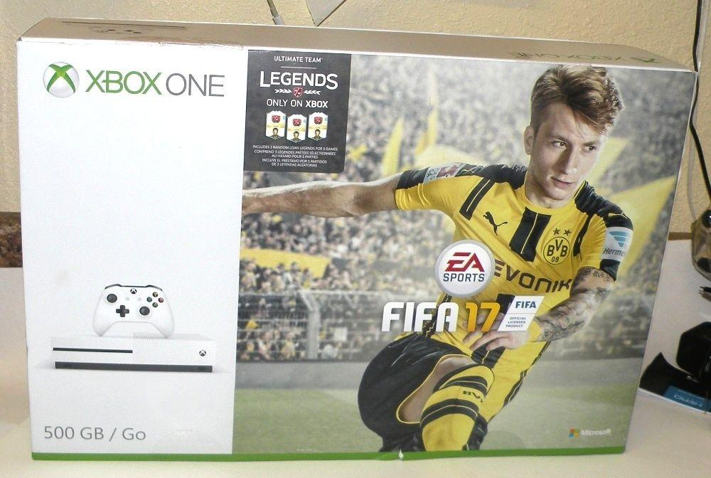 microsoft xbox one s 500gb console fifa 17 bundle reviews. Black Bedroom Furniture Sets. Home Design Ideas