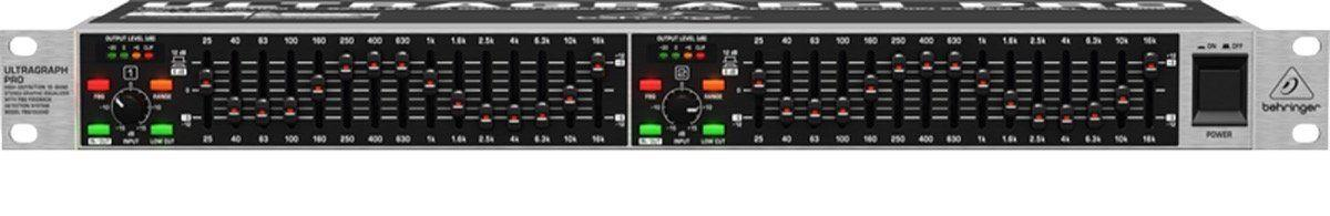 Behringer FBQ1502HD Pro 15-band Hi-Def Stereo Graphic Equalizer w/ Subwoofer Out