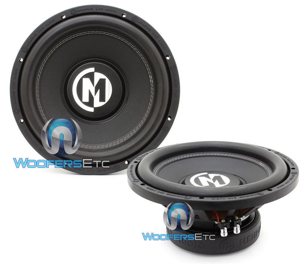 "(2) MEMPHIS BR12S4 12"" SUBS 800W SINGLE 4-OHM SUBWOOFERS CLEAN BASS SPEAKERS NEW"