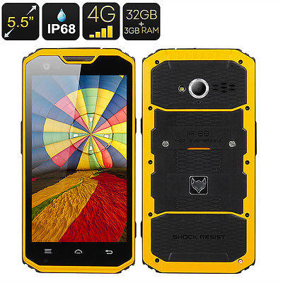 MFOX A7 Pro Rugged Smartphone - 5.5 Inch 1920x1080 Screen, MTK6595 Octa Core CPU