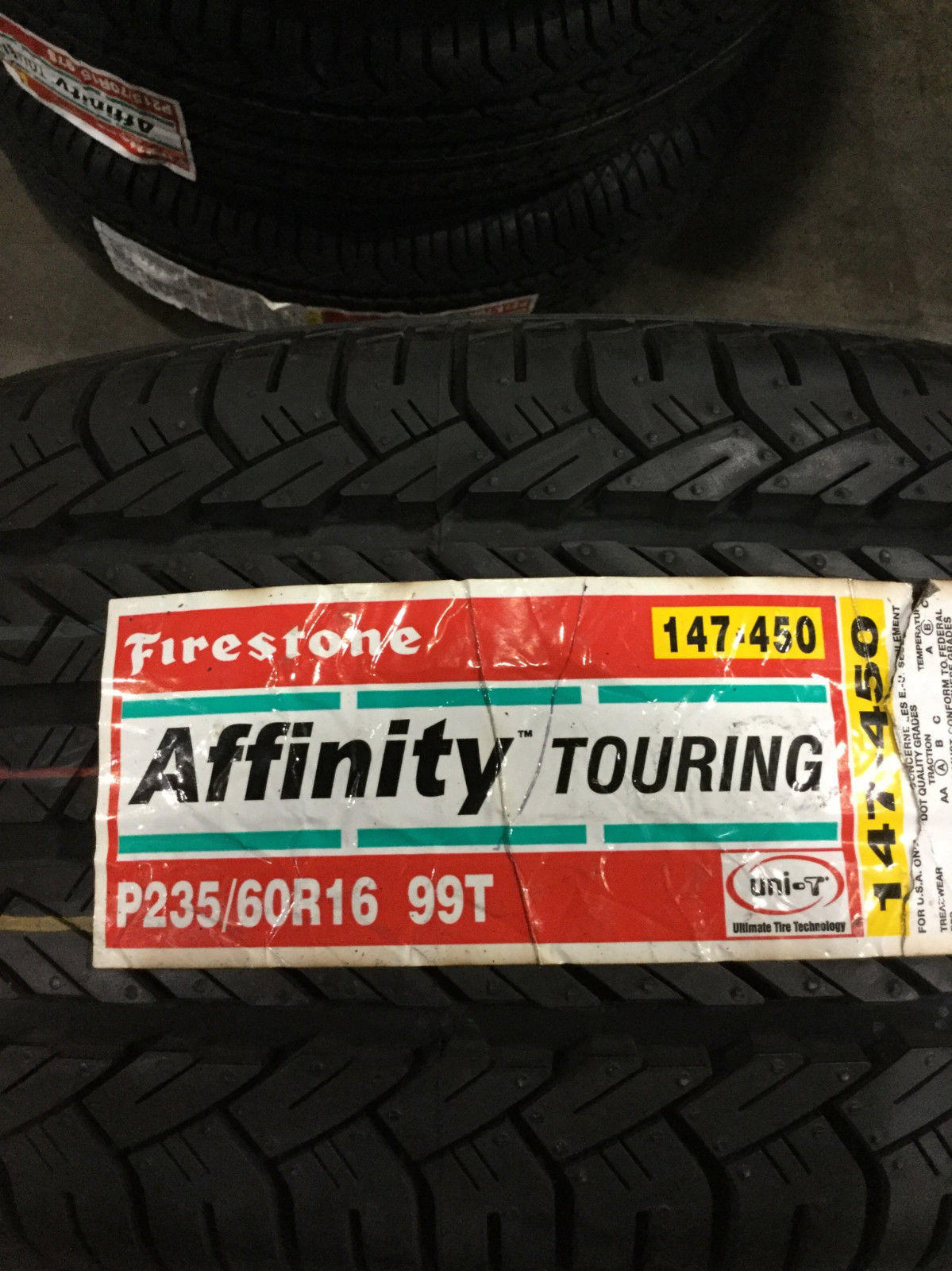 Firestone Affinity Touring >> 2 New 235 60 16 Firestone Affinity Touring Tires Reviews Rating