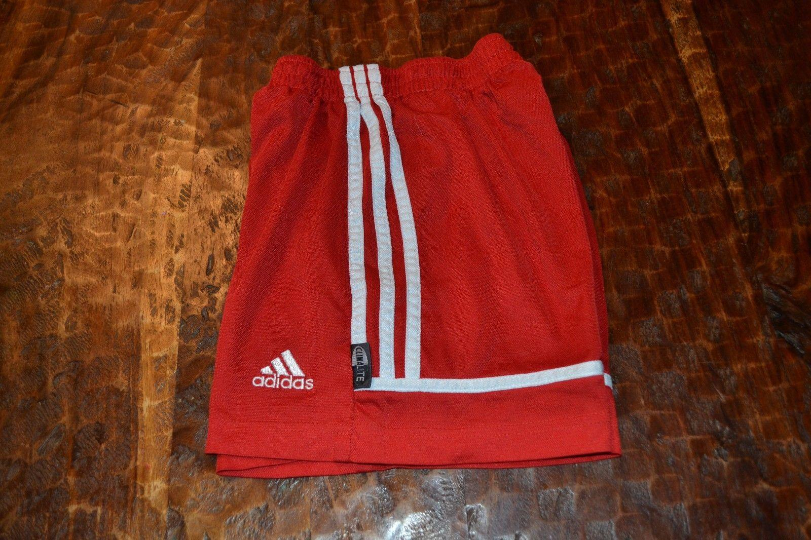 eeaed1c0368fb ADIDAS ~ Boys Girls Youth Small ~ Basketball Soccer Shorts ~ Red White