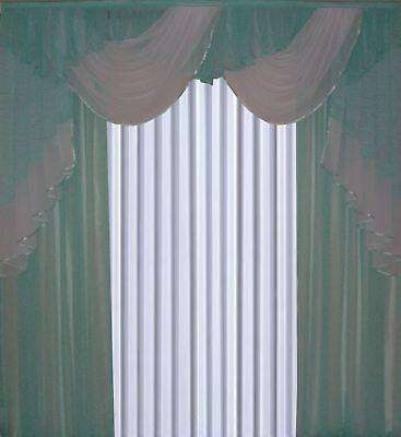 gardine vorh nge bergardinen bogengardine curtain nr 548 mint gr n wei reviews rating by