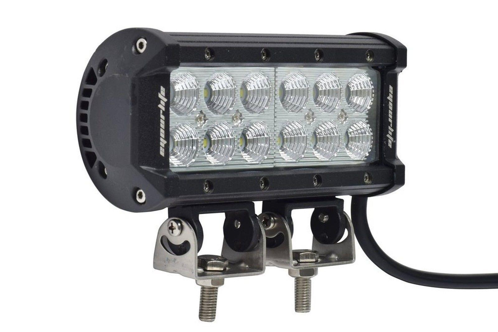 "Eyourlife Led Light Bar 7"" 36W Flood LED Work Light 12v Driving Lights, New"