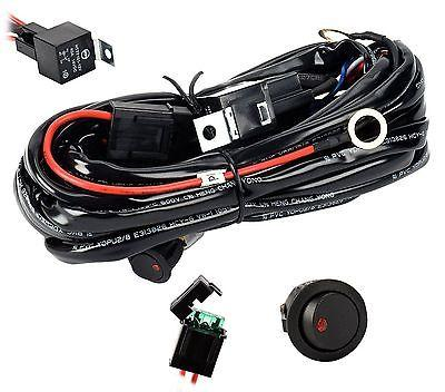 Eyourlife 12V 40A Off Road LED LIGHT Bar On Off Power Switch Relay Wiring Har...