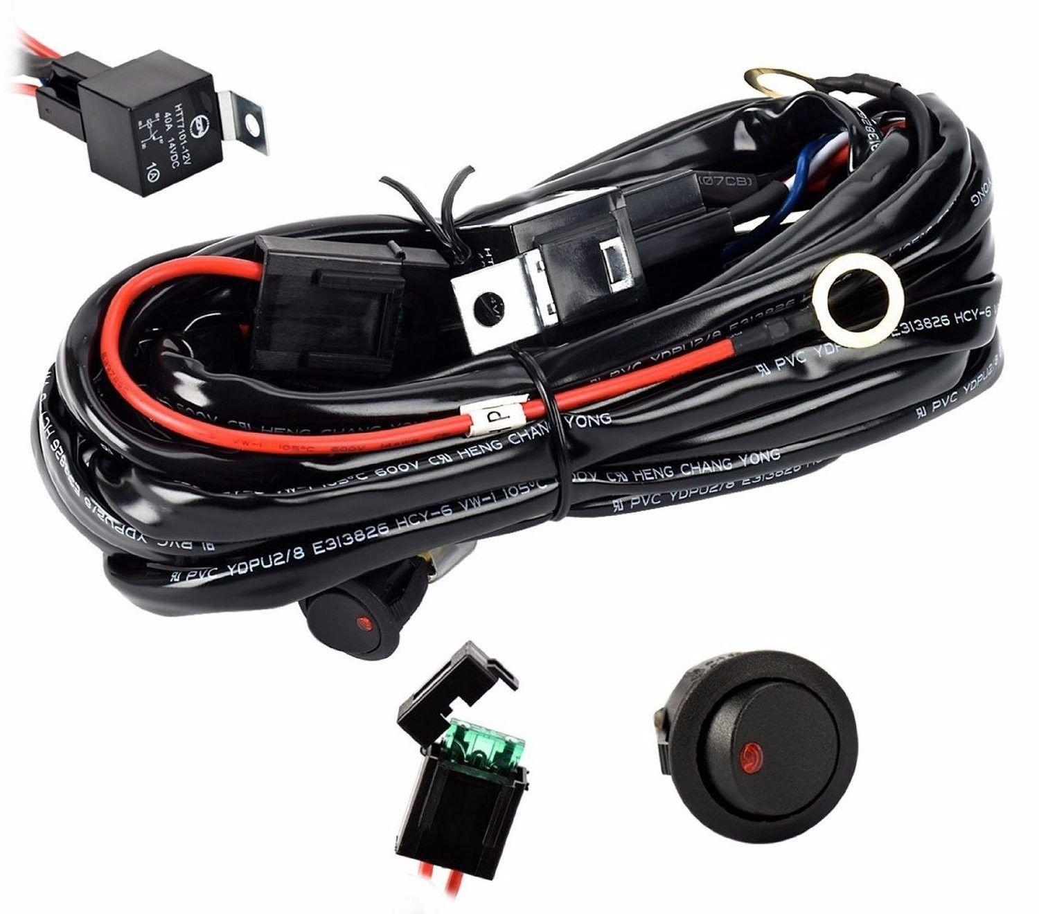 Eyourlife 12V 40A Off Road LED LIGHT Bar OnOff Power Switch Relay Wiring Harness