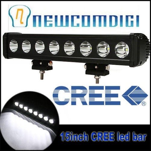 Eyourlife 80W 15inch CREE Work LED LIGHT SPOT/FLOOD BAR LAMP SINGLE ROW OFF ROAD