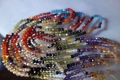 Micro Face. rondelle beads Multi zircon 3mm-4mm 13inch(S/Strand)#DFR66