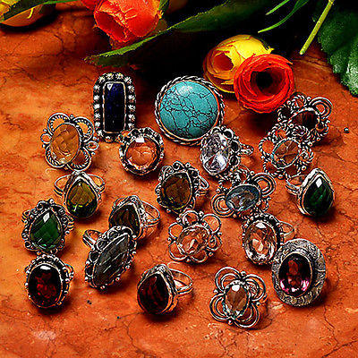 Turquoise Wholesale Lot 20 Pcs Silver Overlay Nice Ring  D11k