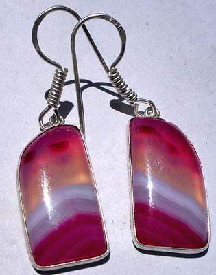 Multi Pink ChalcedonyD shapeFashion Jewelry  Earrings/earrings @DSC02588