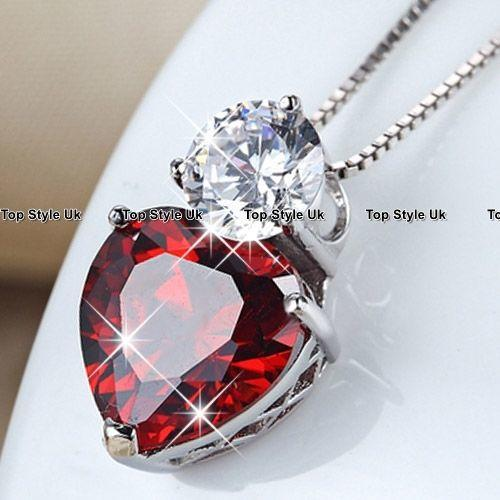 Sale Black Friday Deals Red Crystal Necklace Women Wife Gifts for Her Mother F1
