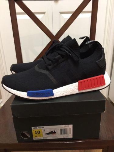 Adidas NMD XR1 Black White Solar Red Mesh Contrast Stitch Mens
