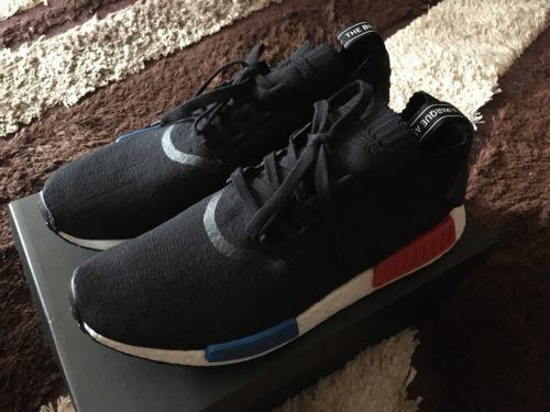 2b9369c22 Adidas NMD R1 Primeknit OG Black Red Blue White Reviews   Rating ...
