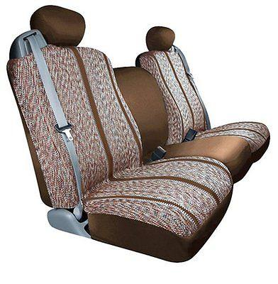 Saddleman Custom Made Rear Bench Backrest Seat Cover Saddle Blanket Fabric Brown