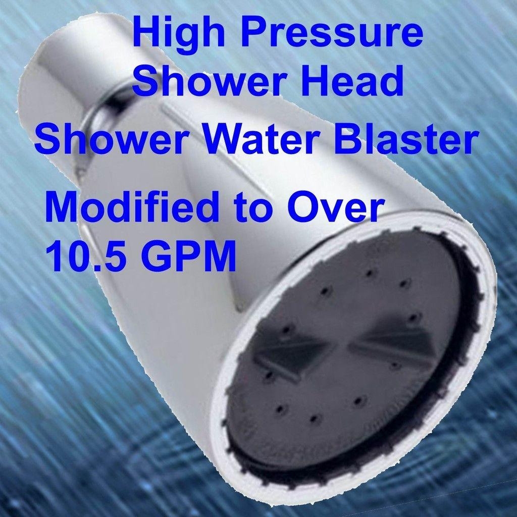 High Pressure Shower Head The Original Shower Blastr Brand Over 10.5 ...