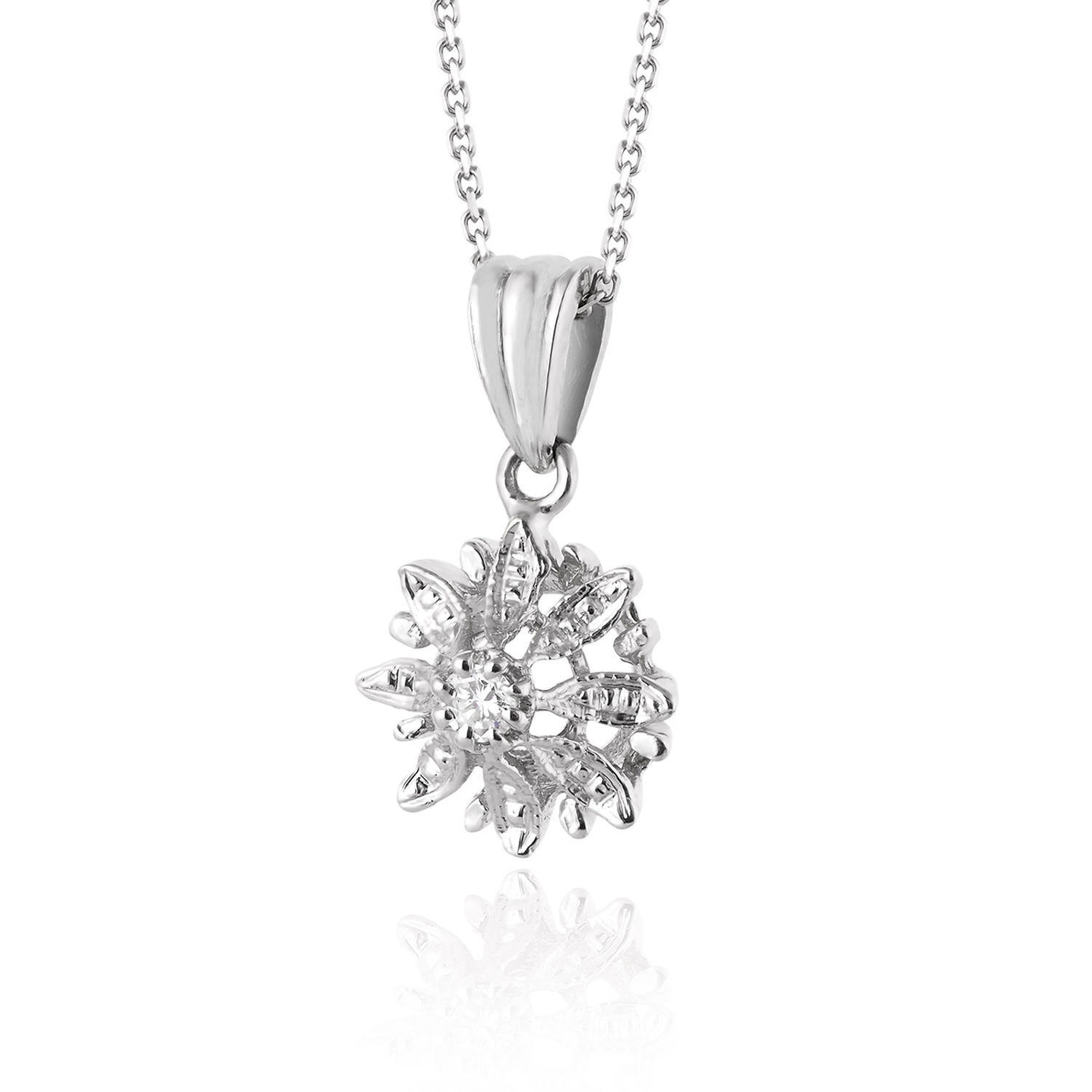s pin gold zirconia necklace flower size cubic jewels junior girl pendant