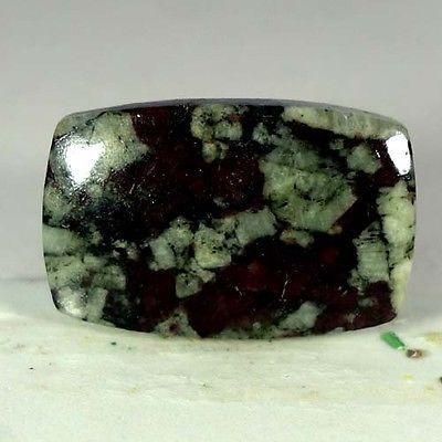 21.40Cts. 100% NATURAL RED GREEN EUDIALYTE CUSHION CABOCHON UNTREATED GEMSTONES