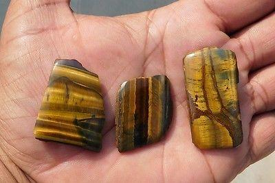 117.8 Cts Elegant 100% Natural Yellow Tiger Eye Mix Slice Loose Cabochon