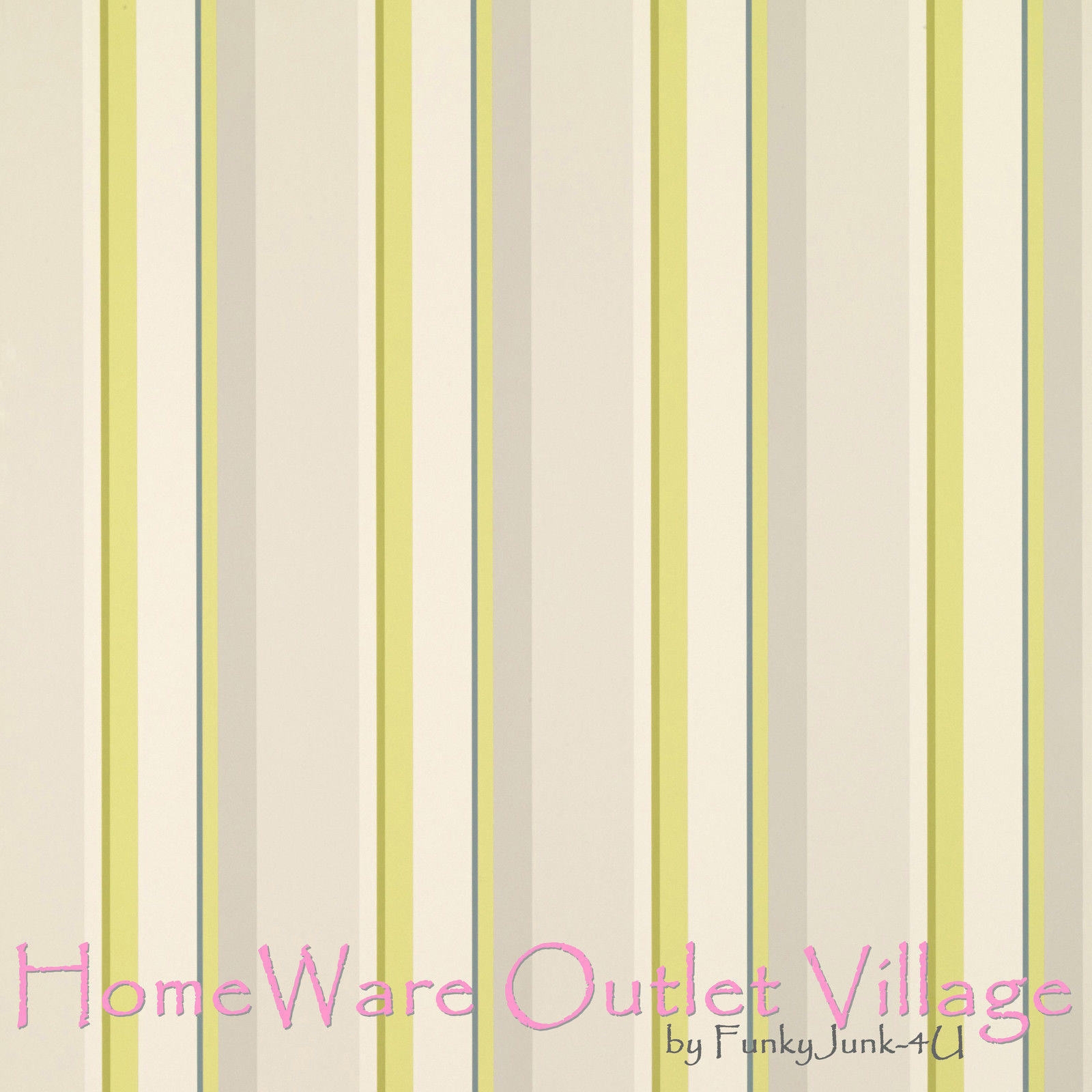 Laura Ashley Wallpaper Eaton Stripe Olive 1 Roll Free Post Several Available