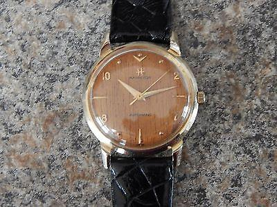 Near Mint 14K Solid Gold Hamilton Sherwood N Automatic Watch
