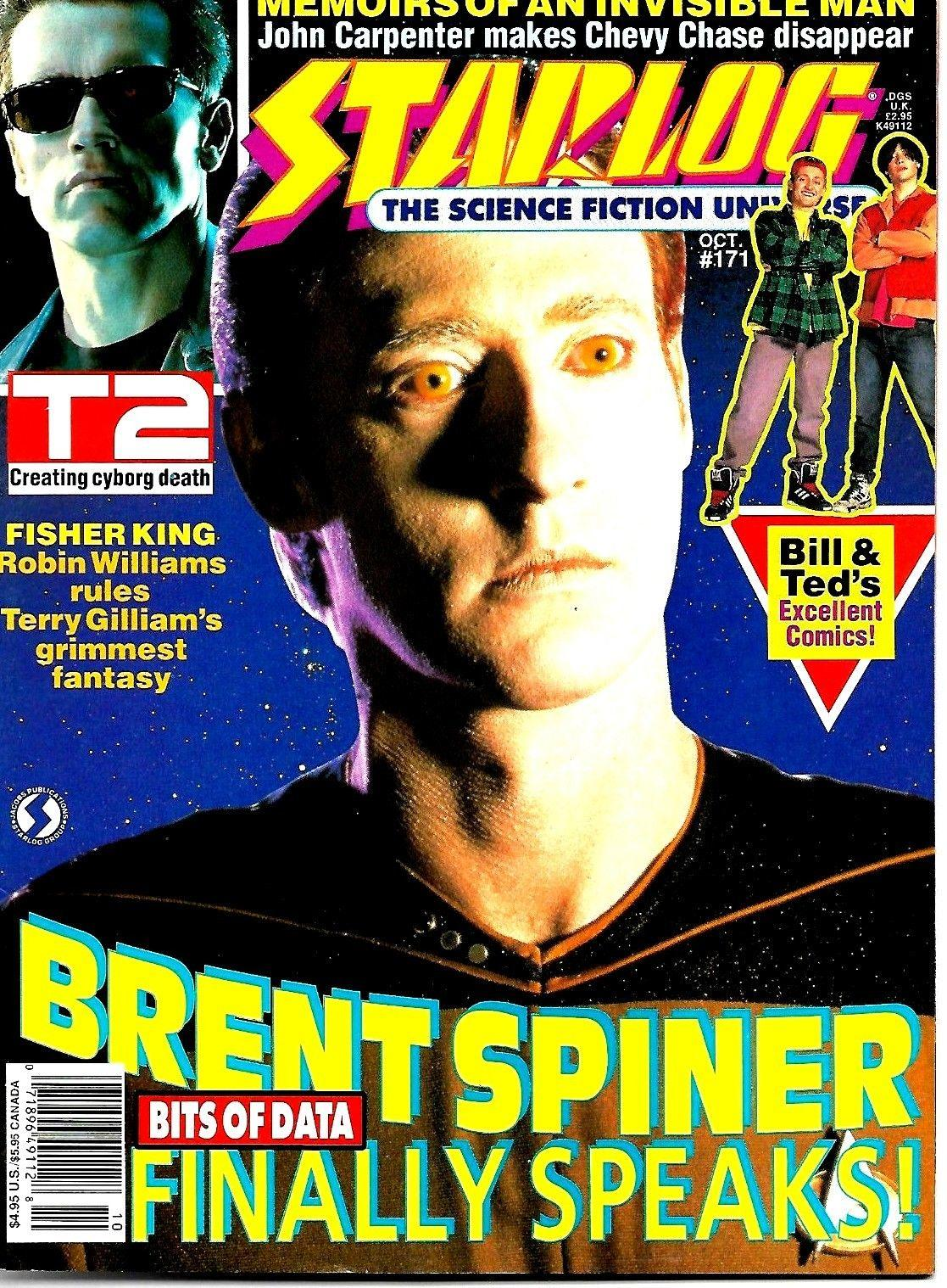 STARLOG MAGAZINE #171 BRENT SPINER BILL & TED FISHER KING EX CONDITION