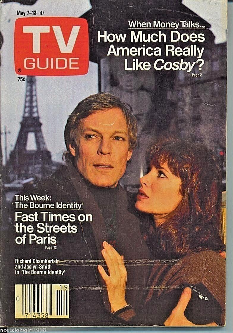 PORTLAND TV GUIDE 5-7-1988 JACLYN SMITH-BRENT SPINER-BARBARA CRAMPTON-C L CROSBY