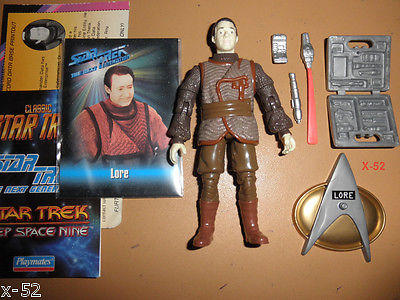 STAR TREK tng LORE evil data CYBORG brother FIGURE toy BRENT SPINER Playmates