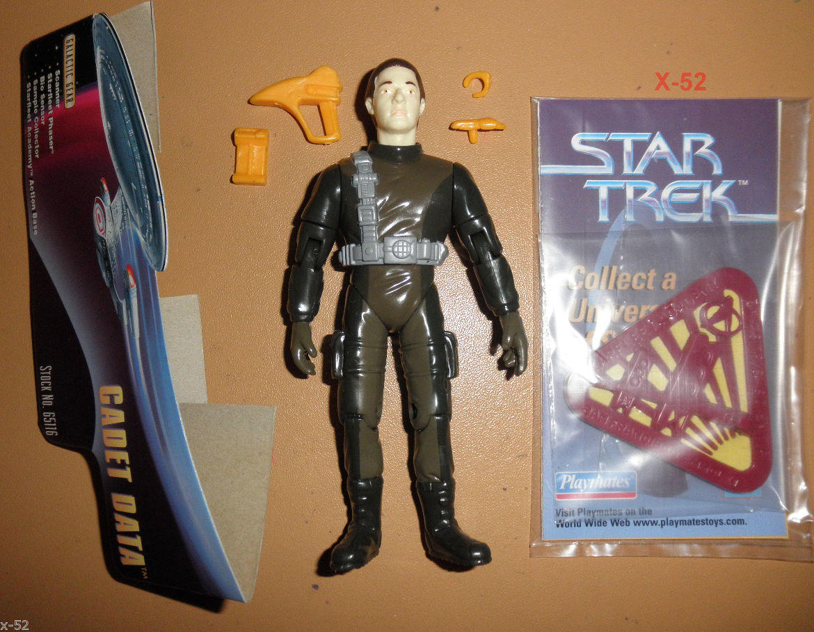 STAR TREK tng CADET DATA android FIGURE brent spiner toy Playmates enterprise