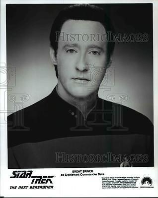 1998 Press Photo Brent Spiner in Star Trek The Next Generation - cvp76308