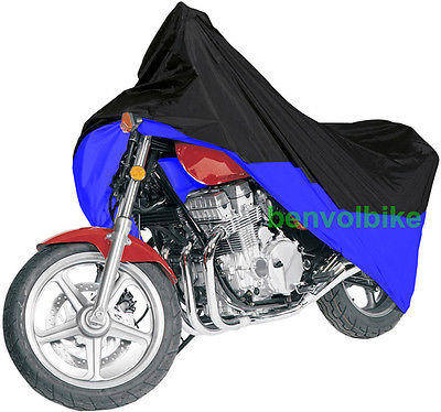 Black/blue Motorcycle Cover For Kawasaki Ninja ZX ZZR 250 500 ER 5  M