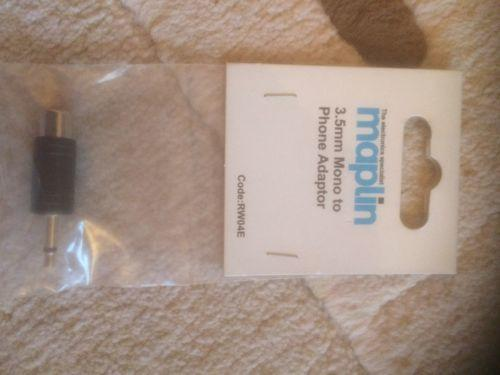 Maplin 3.5mm Mono To Phone Adapter