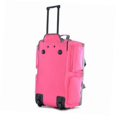 luggage sports plus 29 inch 8 pocket rolling duffel bag, hot pink, one size