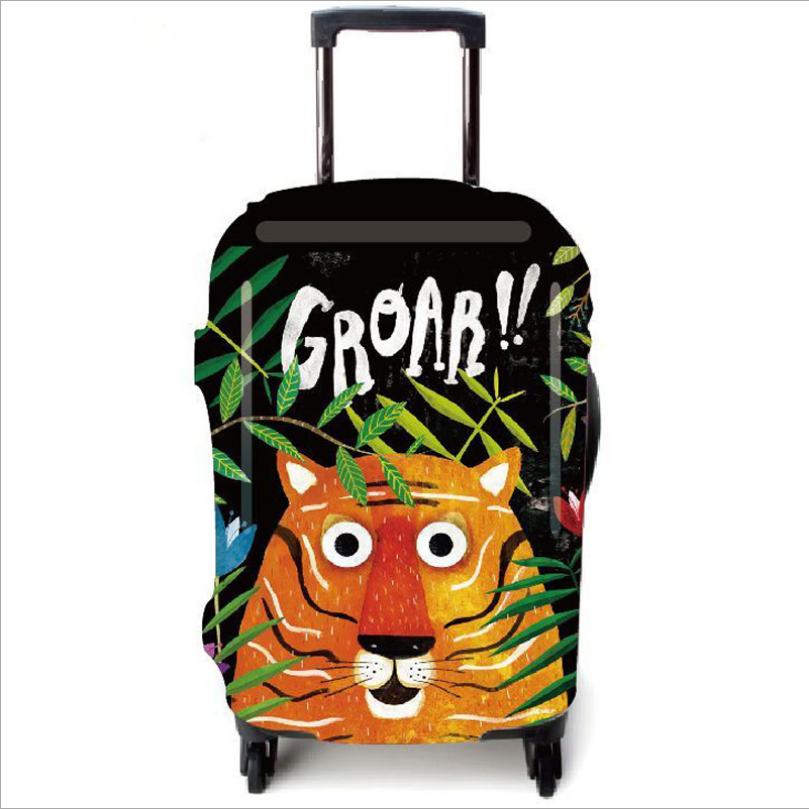 22/25/30'' Travel Luggage Suitcase Elastic Protector Cover Dust-proof Cute Tiger