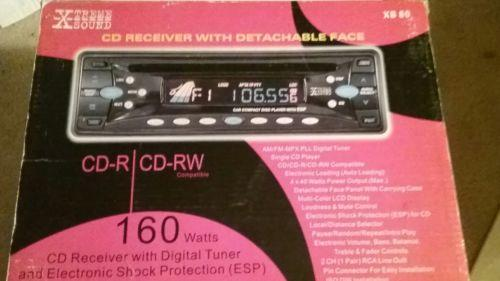 Player CD Car Radio Stereo Receiver Remote Sound Power Detachable Face Text