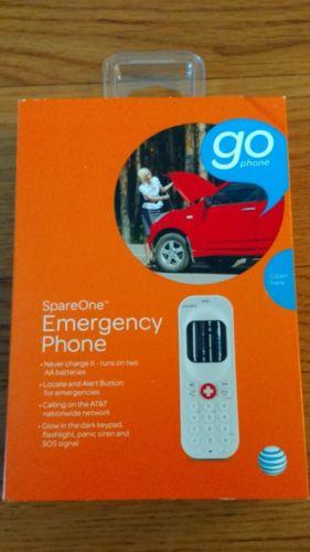 AT&T GO PHONE SPAREONE EMERGENCY PHONE BRAND NEW WHITE