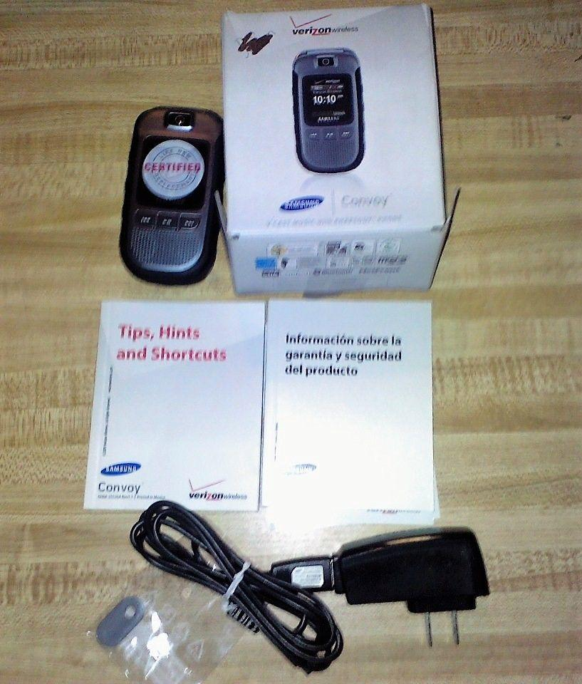 VERIZON WIRELESS READY SAMSUNG CONVOY V CAST MUSIC WITH RHAPSODY PHONE FLIPPHONE