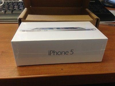 Sealed iPhone 5 - 16GB - White & Silver (AT&T) Factory unlocked