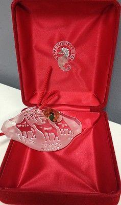 WATERFORD NIB Songs Of Christmas Collection O Holy Night Crystal Ornament KO