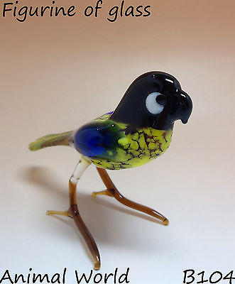 Figurine Blown Glass Bird Parrot aratinga Russian Souvenirs Handmade