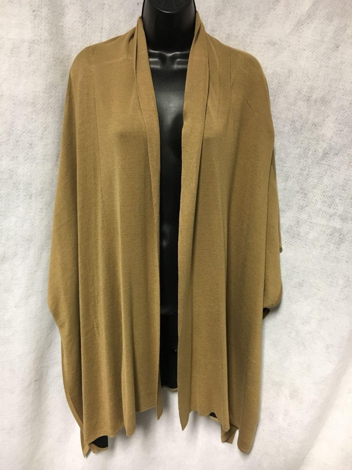 Avette Beautiful Camel Ruana Cape NWT Size S/M MSRP $129