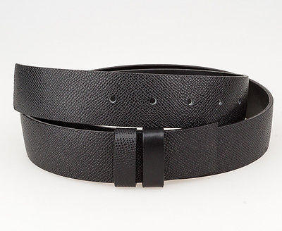Reversible Belt Strap Black leather Replacement burberry buckles 3.5 cm Size 36""