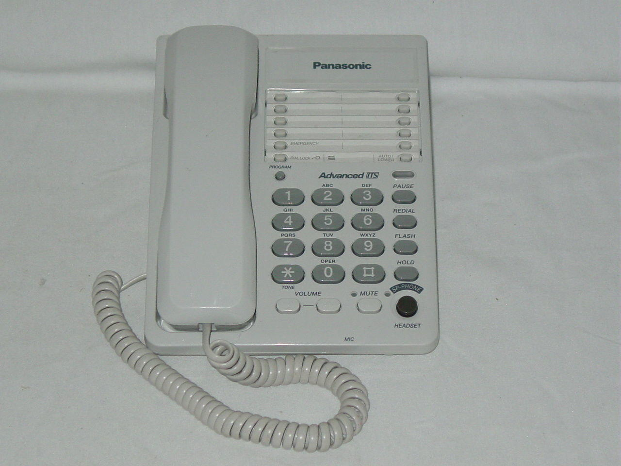 Panasonic KX-TS105W Single-Line Corded Phone Advanced ITS