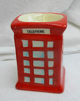 Red Telephone Box Ceramic Egg Cup - BNWT