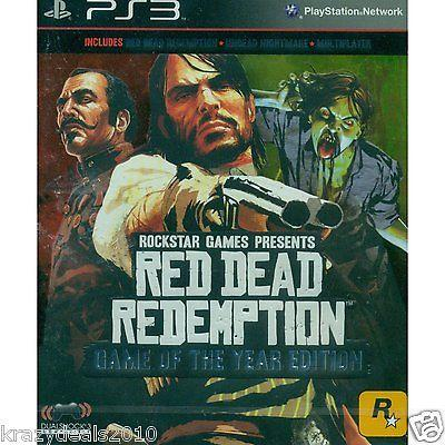 Red Dead Redemption GOTY Game of the year (Sony Ps3 Playstation 3) Games New