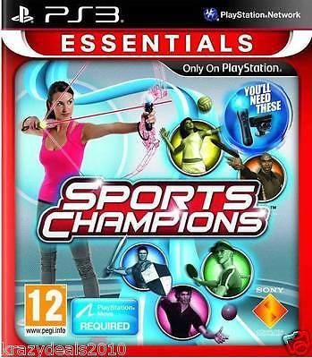 Sports Champions Essentials PS3 Playstation 3 Move Region Free Games New