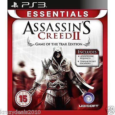 Assassin's Creed 2 II Assassins GOTY PS3 Playstation 3 Region Free Games New