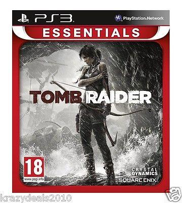 Tomb Raider Sony Ps3 Playstation 3 Essentials Action Games PAL New in Box